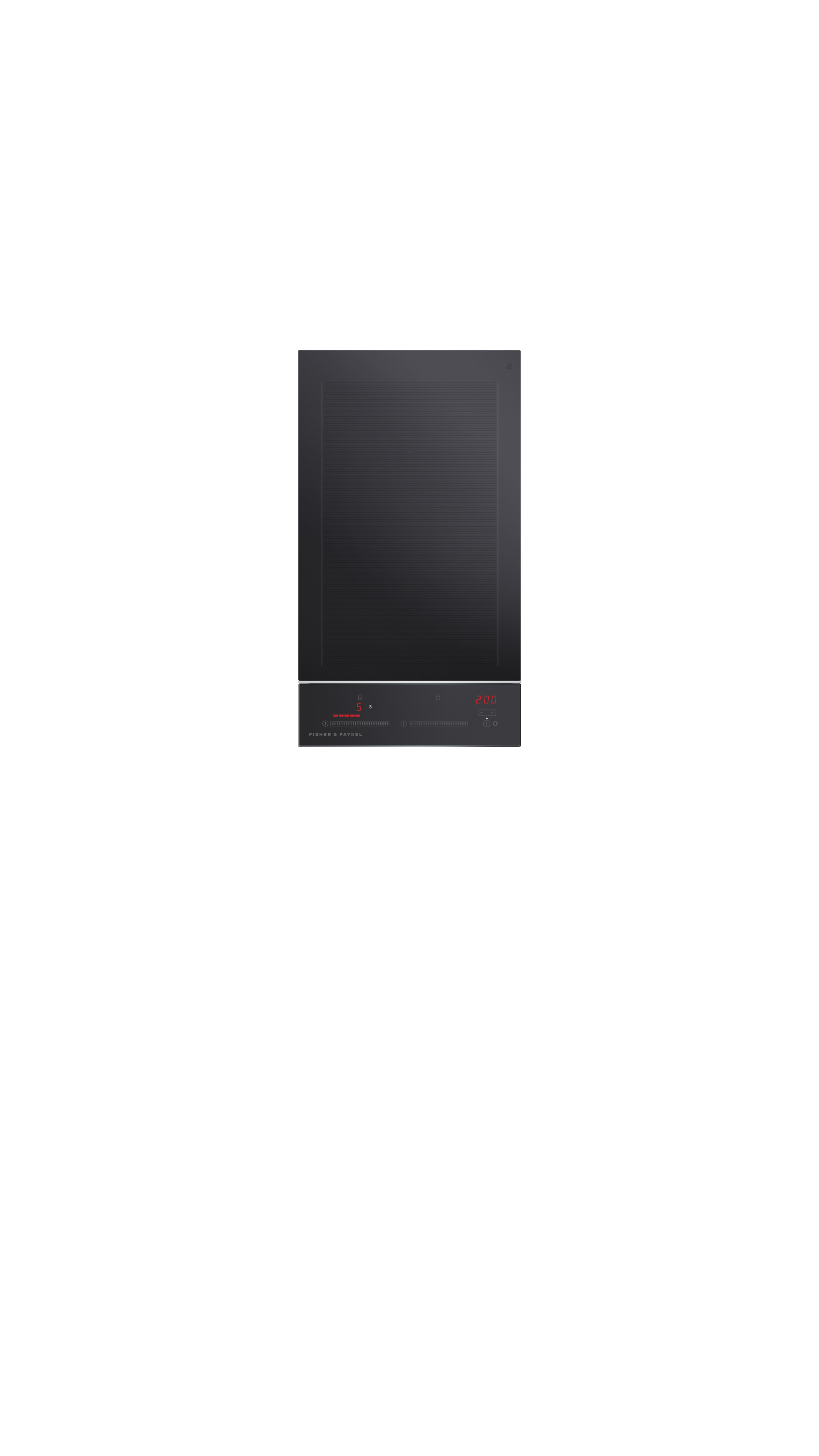 """Fisher and Paykel Induction Cooktop, 12"""", 2 Zones with SmartZone"""
