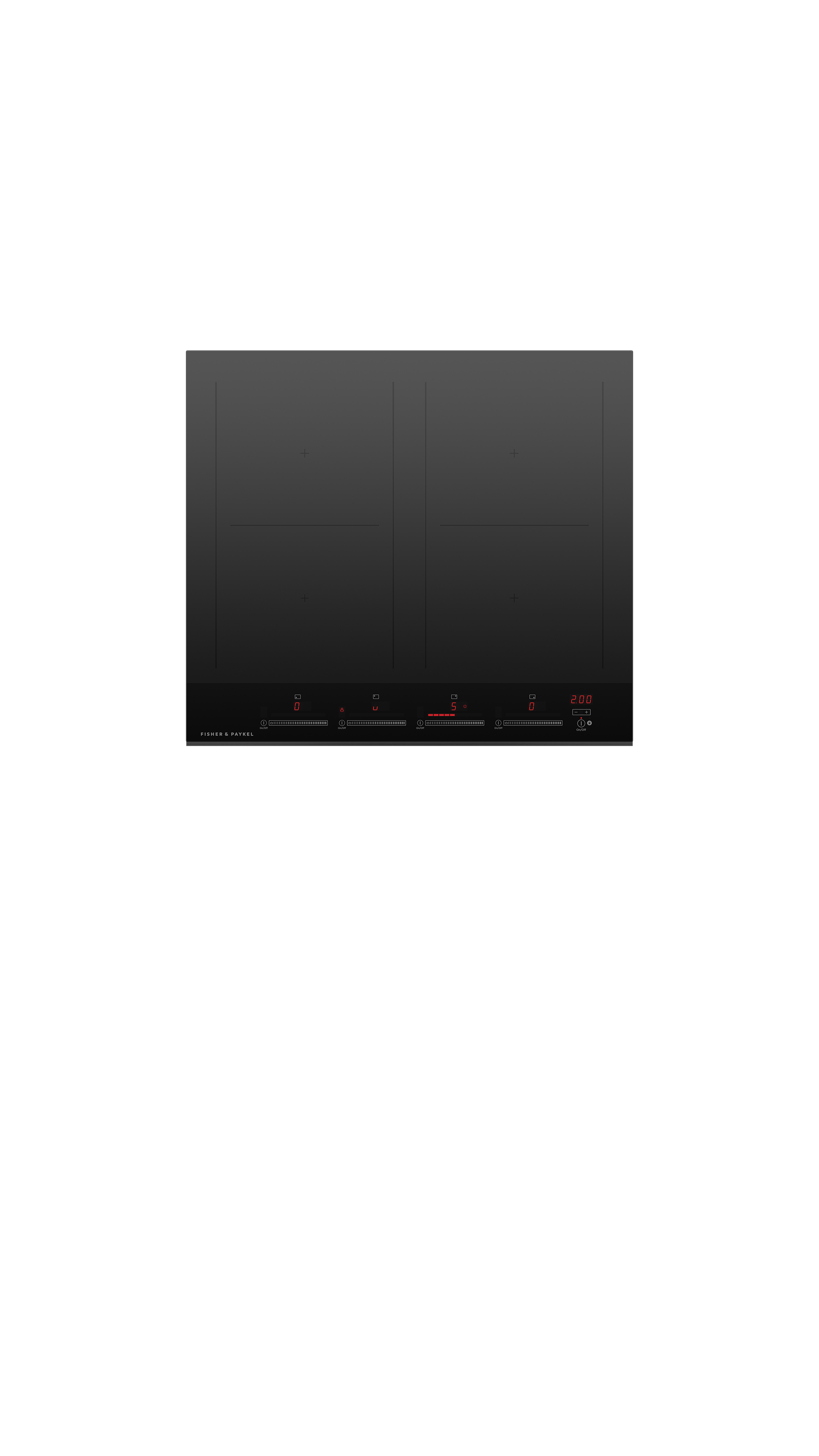 """Fisher and Paykel Induction Cooktop, 24"""", 4 Zones, with SmartZone"""