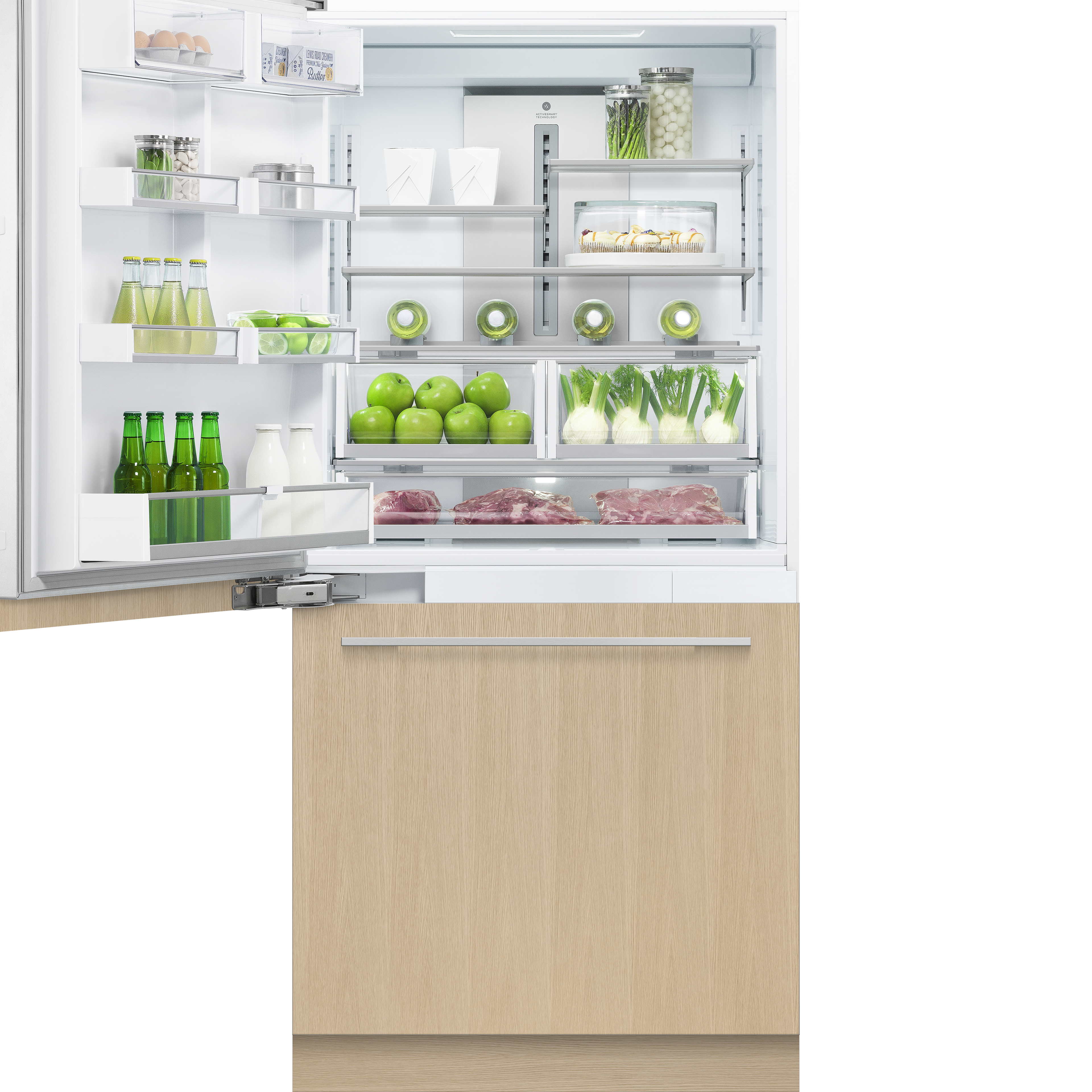 """Fisher and Paykel Integrated Refrigerator Freezer, 36"""", Ice"""
