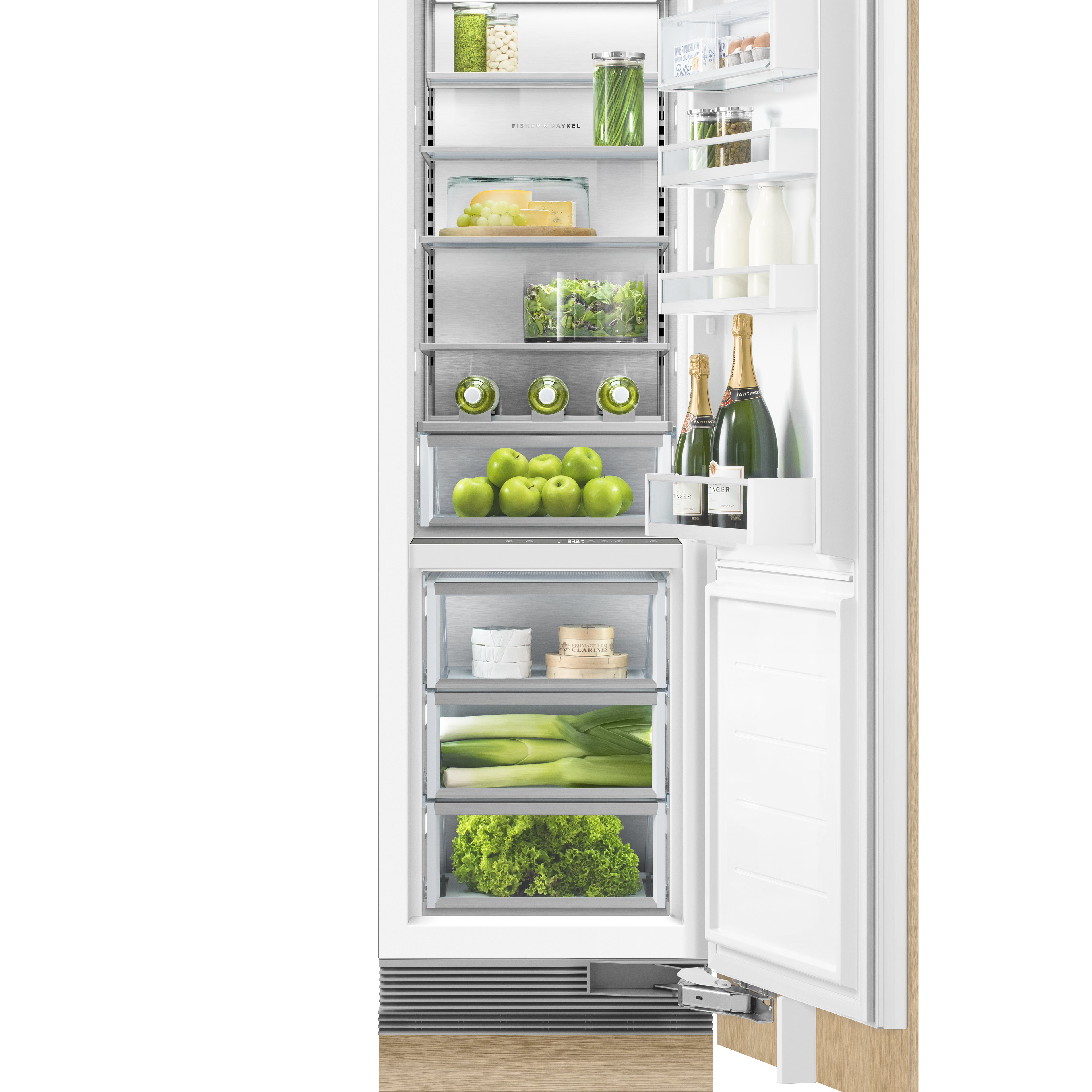 """Fisher and Paykel Integrated Column Refrigerator, 24"""", Water"""