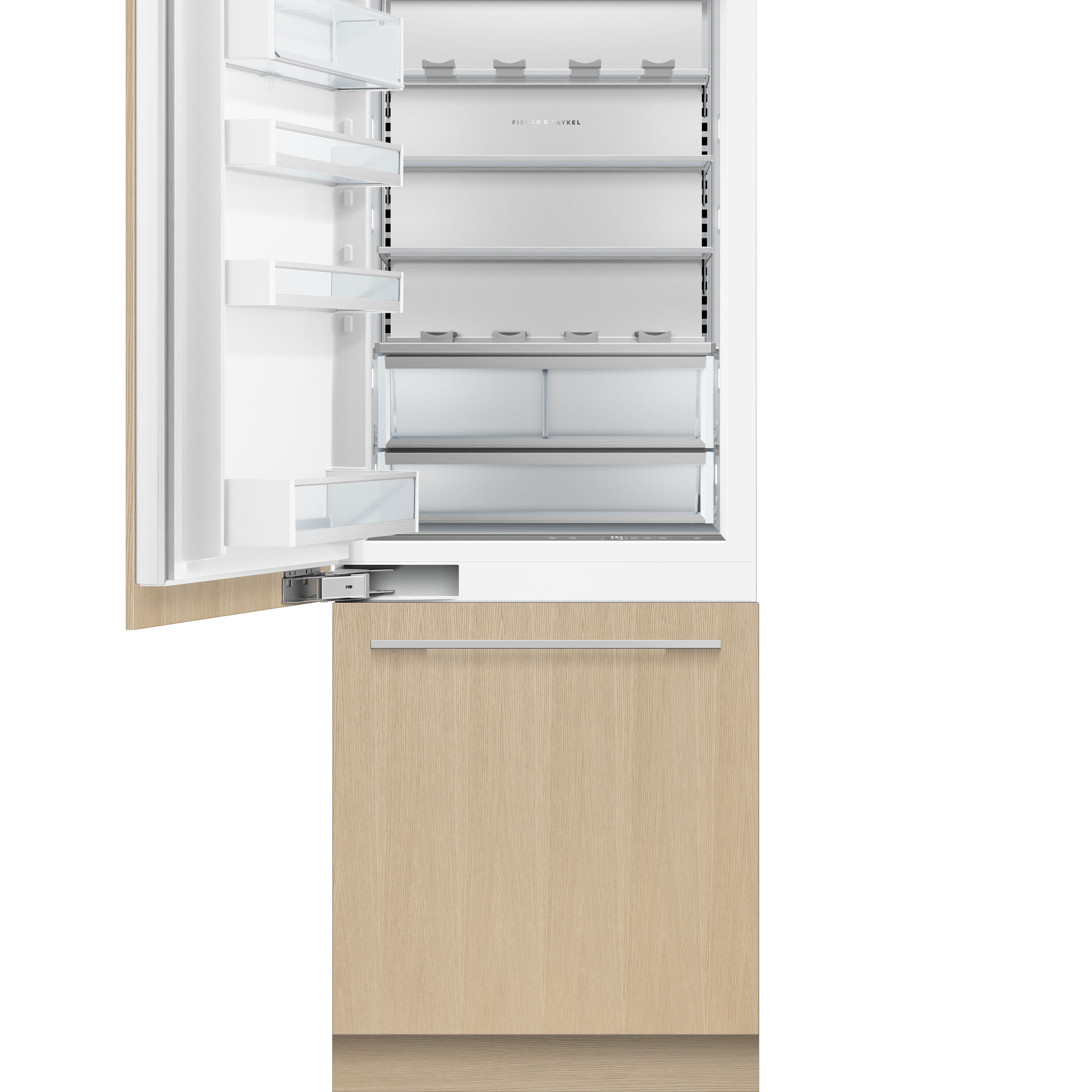 """Fisher and Paykel Integrated Refrigerator Freezer, 30"""", Ice & Water"""