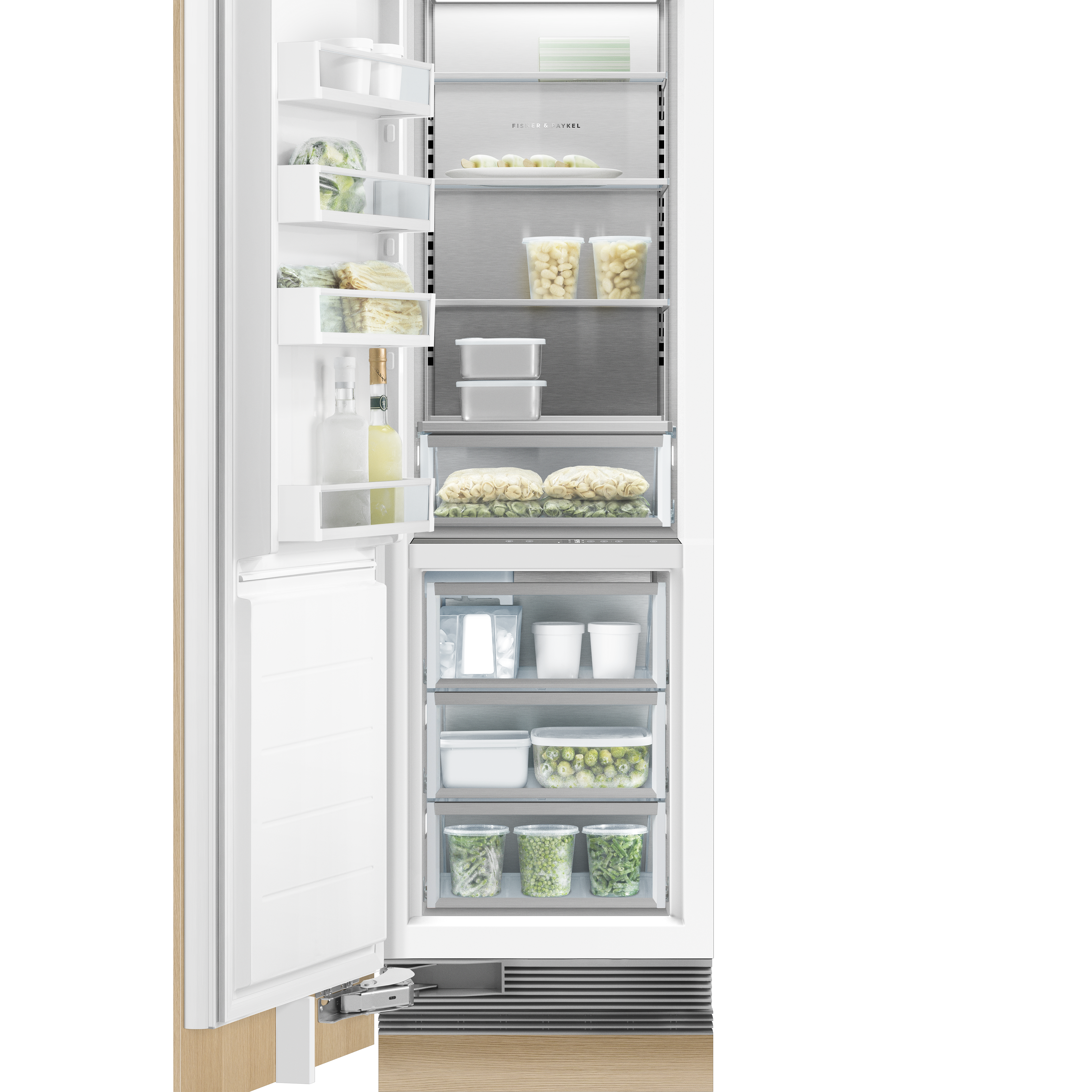 """Fisher and Paykel Integrated Column Freezer, 24"""", Ice"""