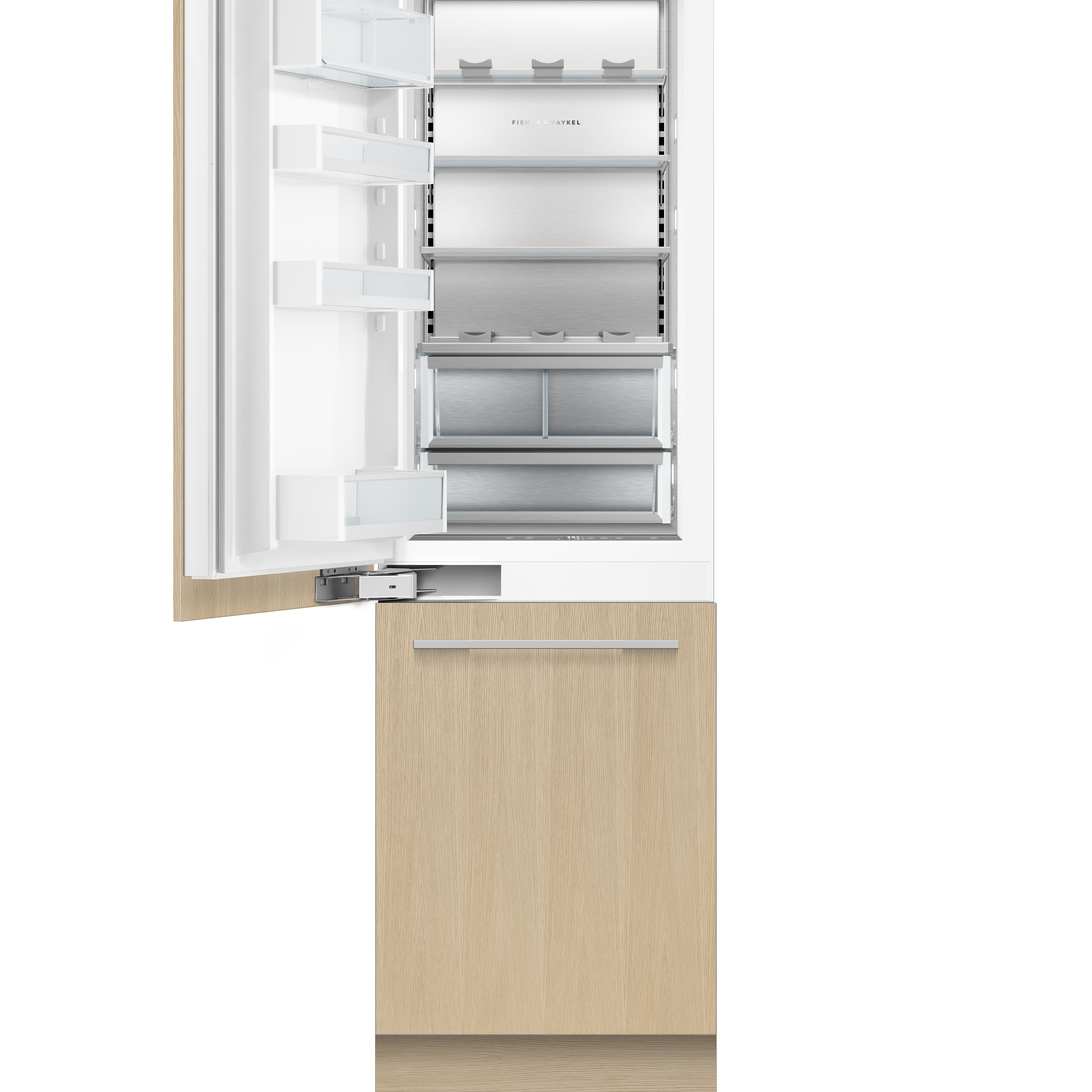 """Fisher and Paykel Integrated Refrigerator Freezer, 24"""", Ice & Water"""