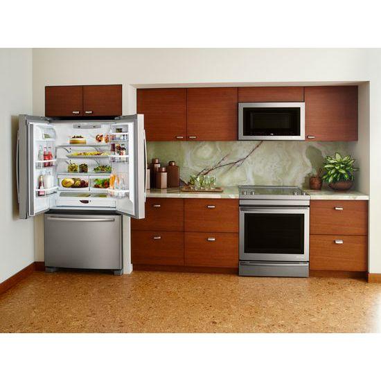 "Model: JFC2089BEM | Jenn-Air 69"" Counter-Depth, French Door Refrigerator with Internal Water/Ice Dispensers"