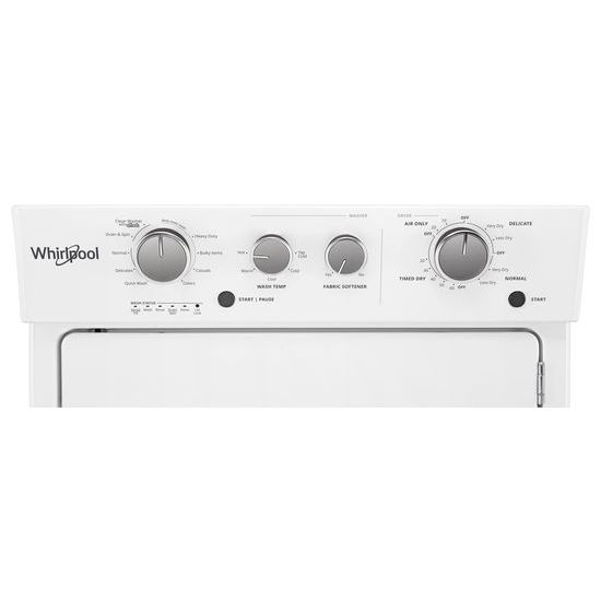 Model: WET4027HW   Whirlpool 3.5 cu.ft Electric Stacked Laundry Center 9 Wash cycles and AutoDry™