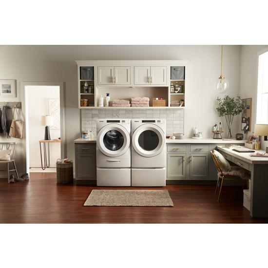 Model: WFW5620HW | Whirlpool 4.5 cu. ft. Closet-Depth Front Load Washer with Load & Go™ Dispenser