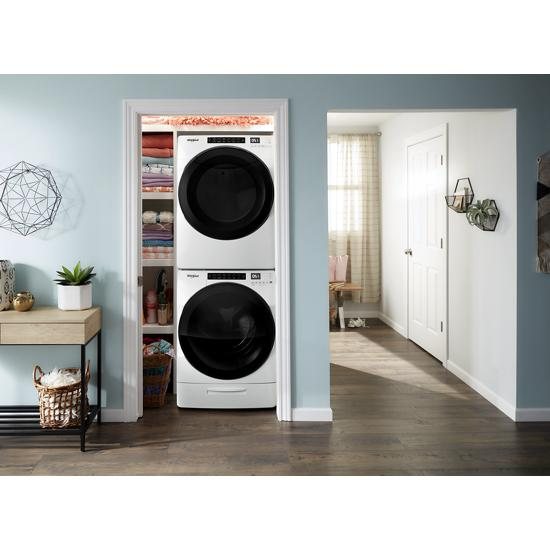 Model: WFW6620HW | Whirlpool 4.5 cu. ft. Closet-Depth Front Load Washer with Load & Go™ XL Dispenser