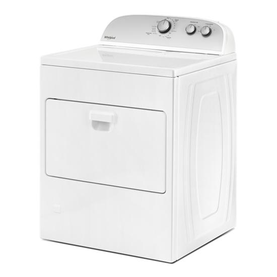 Model: WGD4950HW   Whirlpool 7.0 cu. ft. Top Load Gas Dryer with AutoDry™ Drying System