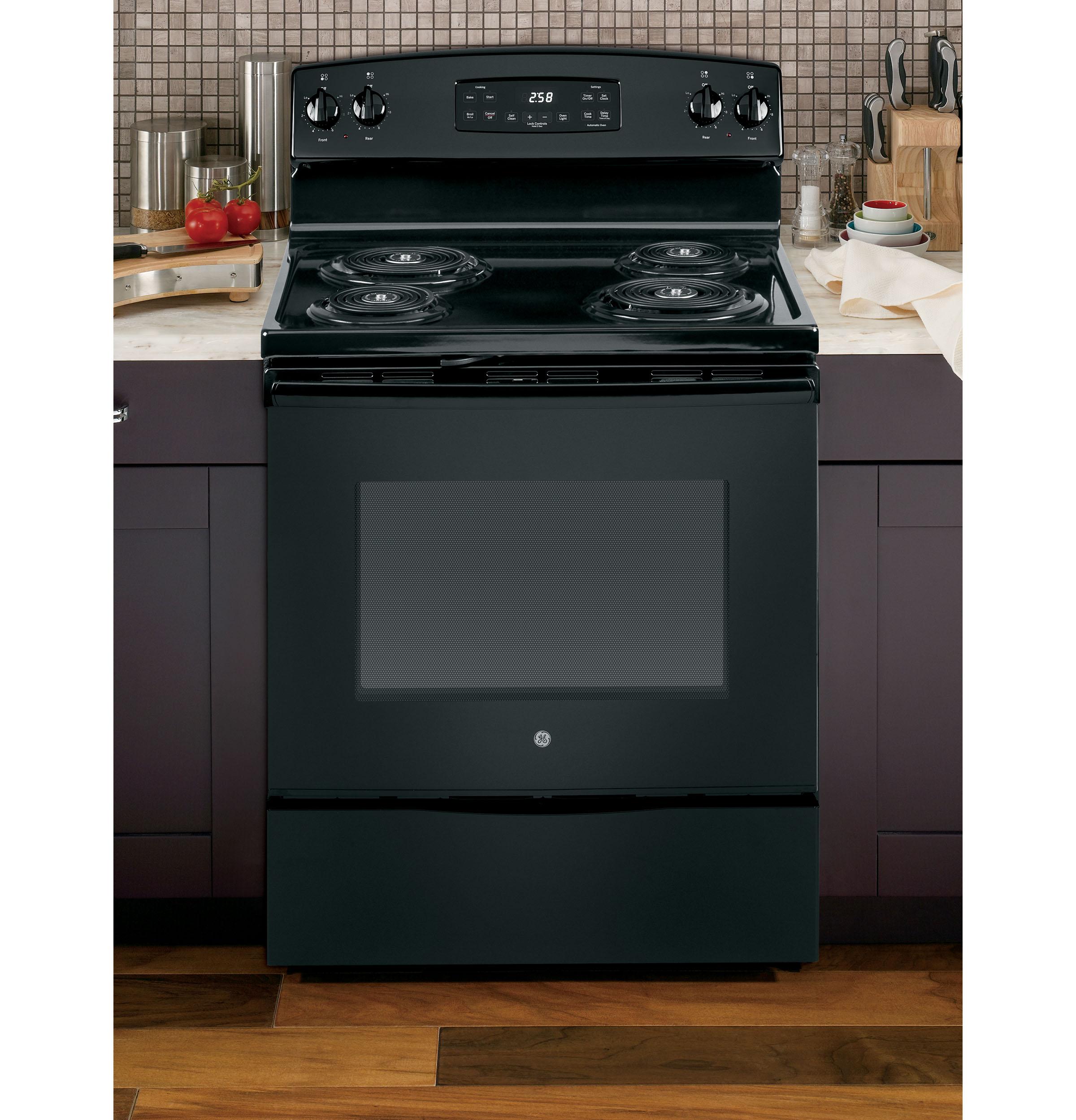 """Model: JB258DMBB   GE GE® 30"""" Free-Standing Self-Clean Electric Range"""