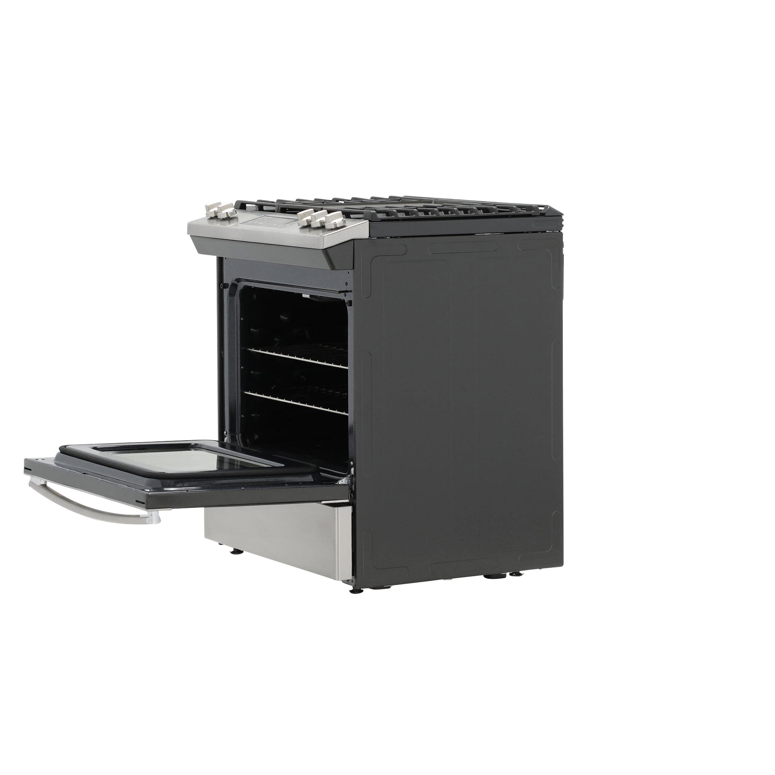 "Model: JGSS66SELSS | GE GE® 30"" Slide-In Front Control Gas Range"