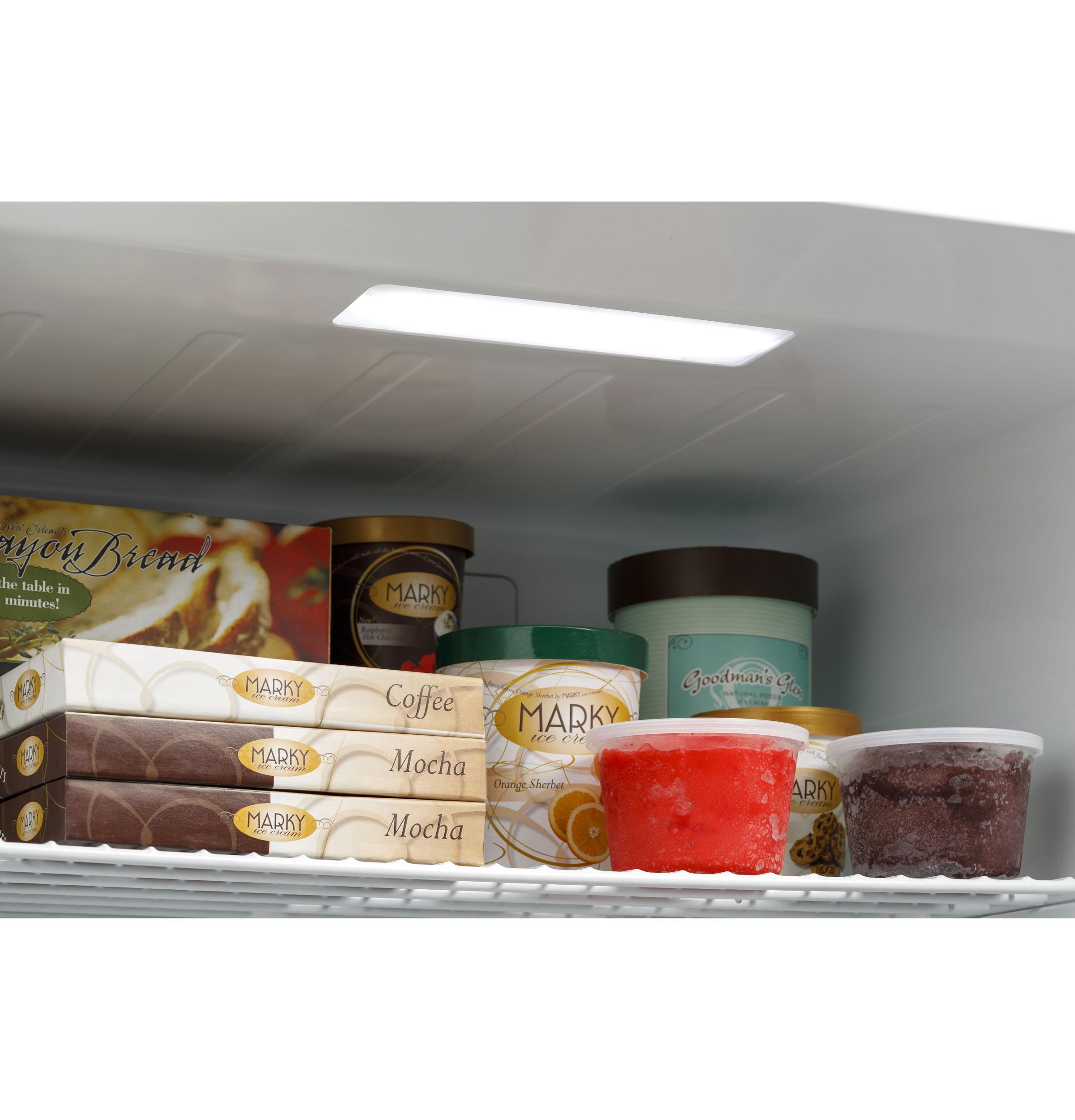Model: FUF14SMRWW | GE GE® 14.1 Cu. Ft. Frost-Free Garage Ready Upright Freezer