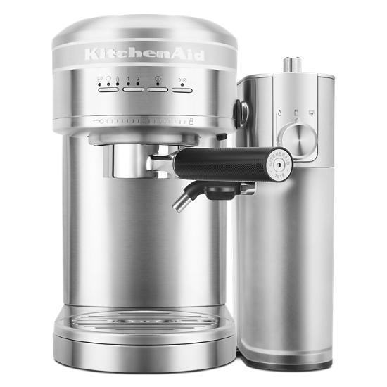 KitchenAid  Metal Semi-Automatic Espresso Machine and Automatic Milk Frother Attachment Bundle
