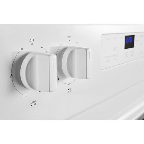 Model: WFE525S0JW   Whirlpool 5.3 cu. ft. Whirlpool® electric range with Frozen Bake™ technology