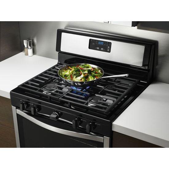Model: WFG505M0BS | Whirlpool Whirlpool® 5.1 Cu. Ft. Freestanding 5-Burner Gas Stove