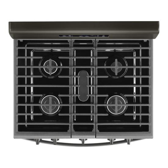 Model: WFG535S0JV   Whirlpool 5.0 cu. ft. gas convection oven with fan convection cooking
