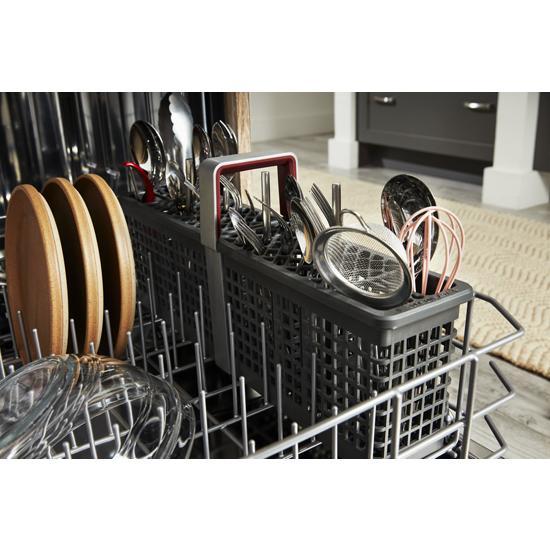 Model: KDFE204KPS | KitchenAid 39 dBA Dishwasher in PrintShield™ Finish with Third Level Utensil Rack