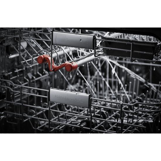 Model: KDFM404KBS | KitchenAid 44 dBA Dishwasher in PrintShield™ Finish with FreeFlex™ Third Rack