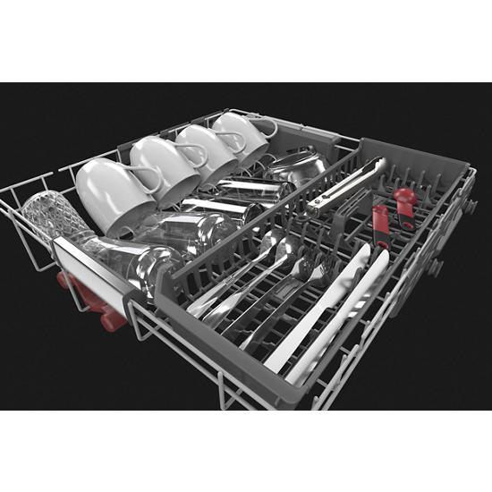 Model: KDFM404KPS | KitchenAid 44 dBA Dishwasher in PrintShield™ Finish with FreeFlex™ Third Rack