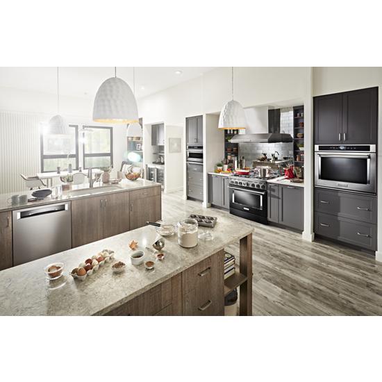 Model: KDPM604KPS | KitchenAid 44 dBA Dishwasher in PrintShield™ Finish with FreeFlex™ Third Rack