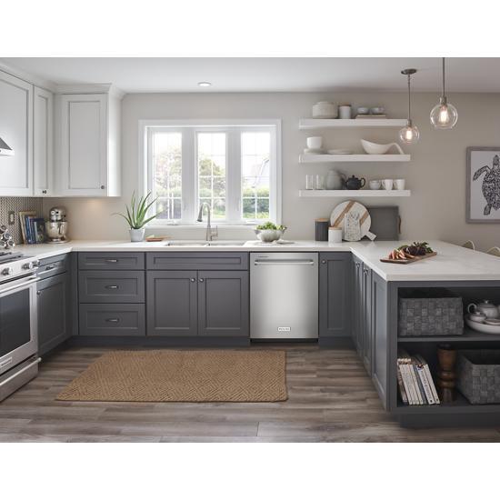 Model: KDTE204KPS | KitchenAid 39 dBA Dishwasher in PrintShield™ Finish with Third Level Utensil Rack