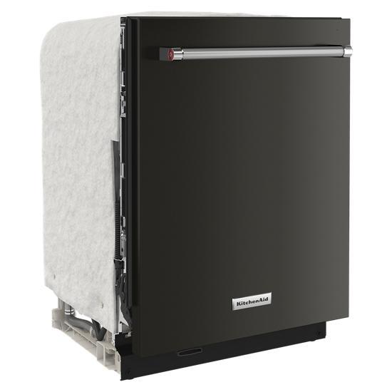 Model: KDTM604KBS | KitchenAid 44 dBA Dishwasher in PrintShield™ Finish with FreeFlex™ Third Rack