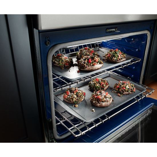 Model: KFED500ESS | KitchenAid 30-Inch 5 Burner Electric Double Oven Convection Range
