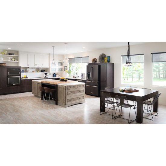 "Model: KRMF706EBS | KitchenAid 25.8 Cu. Ft. 36"" Multi-Door Freestanding Refrigerator with Platinum Interior Design"
