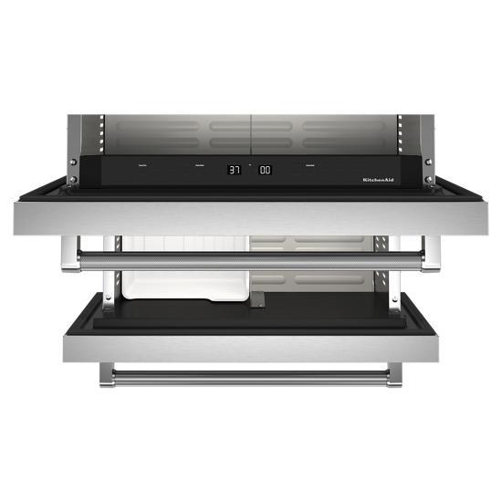 "Model: KUDF204KSB | KitchenAid 24"" Stainless Steel Undercounter Double-Drawer Refrigerator/Freezer"