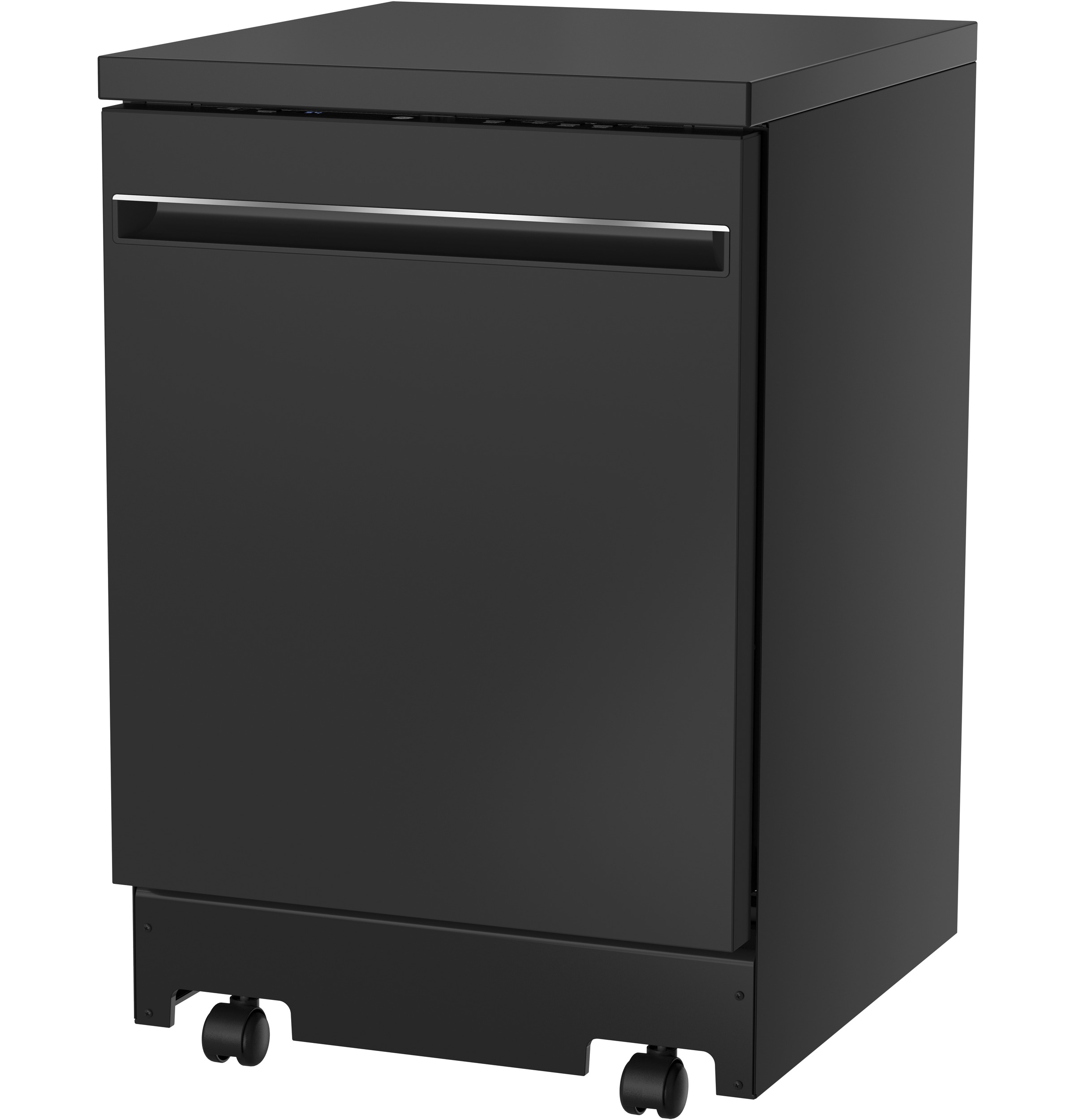 """Model: GPT225SGLBB   GE GE® 24"""" Stainless Steel Interior Portable Dishwasher with Sanitize Cycle"""