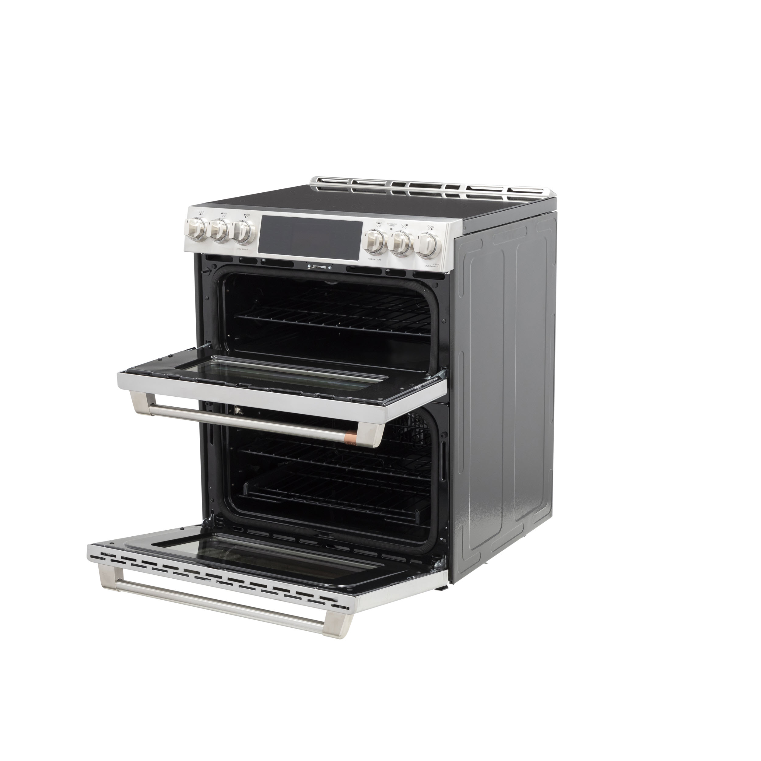 """Model: CHS950P2MS1   Cafe Café™ 30"""" Smart Slide-In, Front-Control, Induction and Convection Double-Oven Range"""