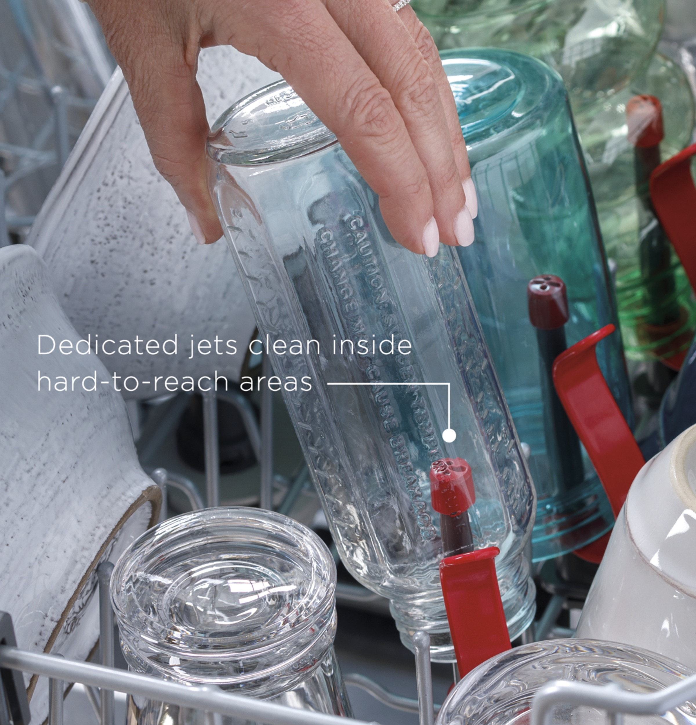 Model: GDT605PSMSS | GE GE® Top Control with Plastic Interior Dishwasher with Sanitize Cycle & Dry Boost