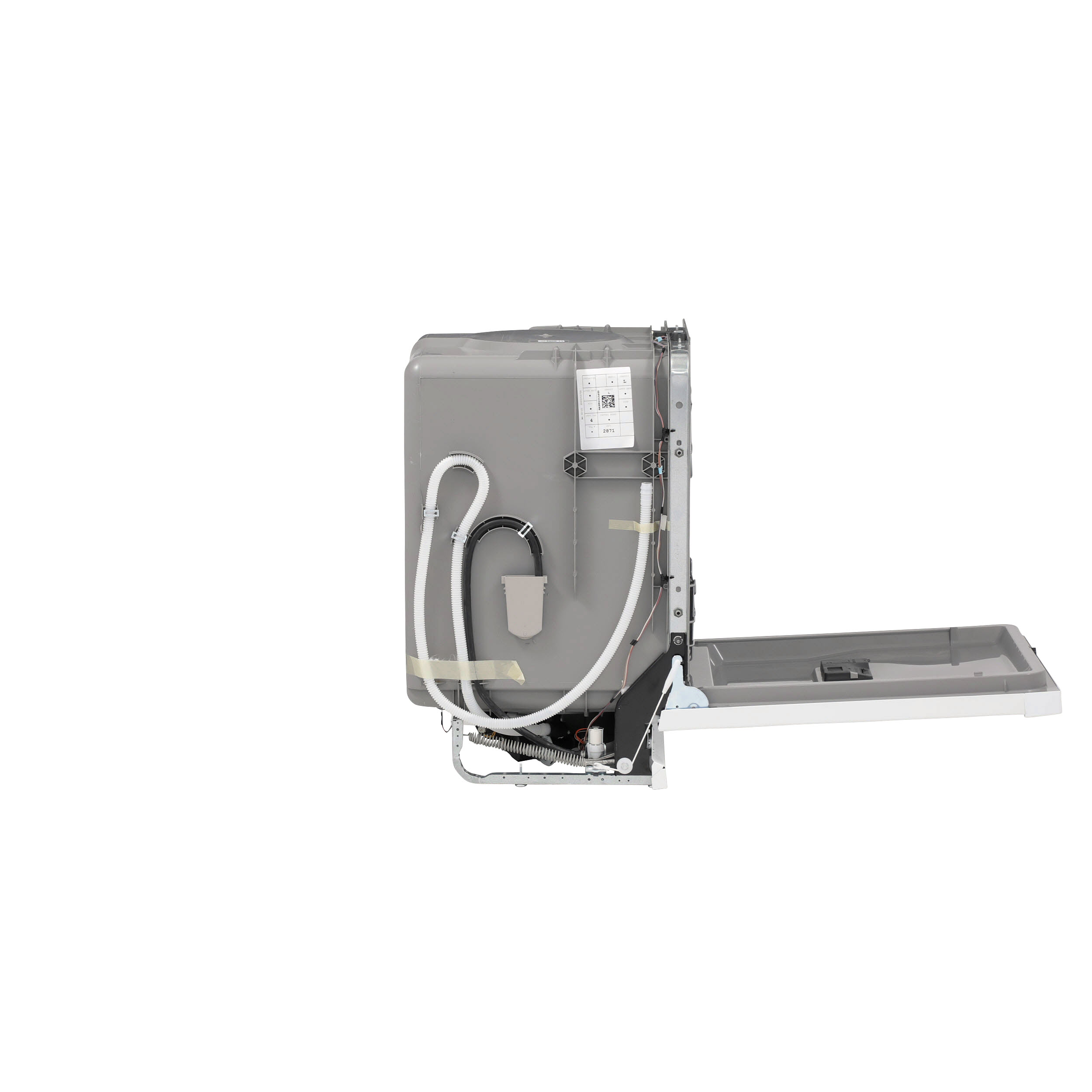 Model: GDF630PGMWW | GE GE® Front Control with Plastic Interior Dishwasher with Sanitize Cycle & Dry Boost