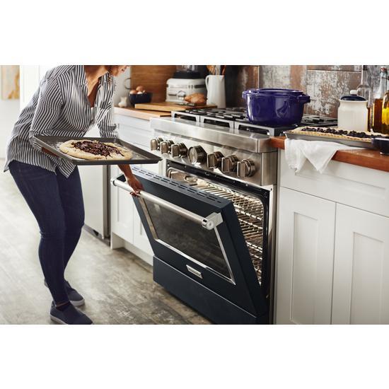 Model: KFDC506JIB   KitchenAid KitchenAid® 36'' Smart Commercial-Style Dual Fuel Range with 6 Burners