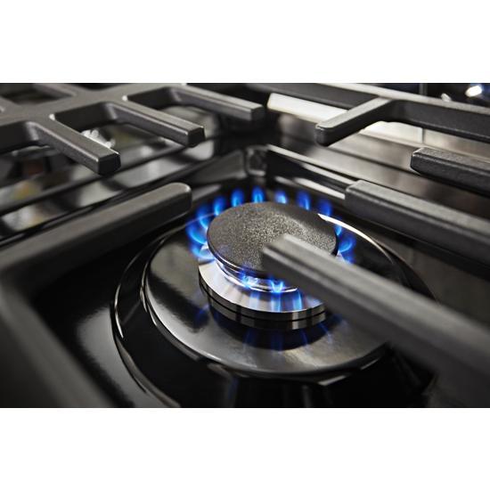 Model: KFGC558JYP | KitchenAid KitchenAid® 48'' Smart Commercial-Style Gas Range with Griddle