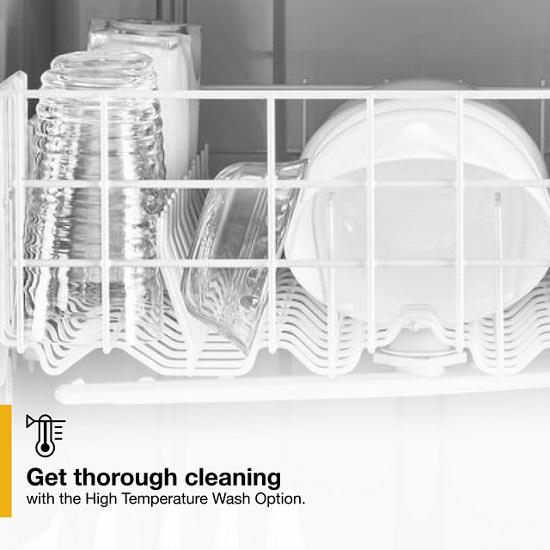 Model: WDF331PAHW   Whirlpool Heavy-Duty Dishwasher with 1-Hour Wash Cycle