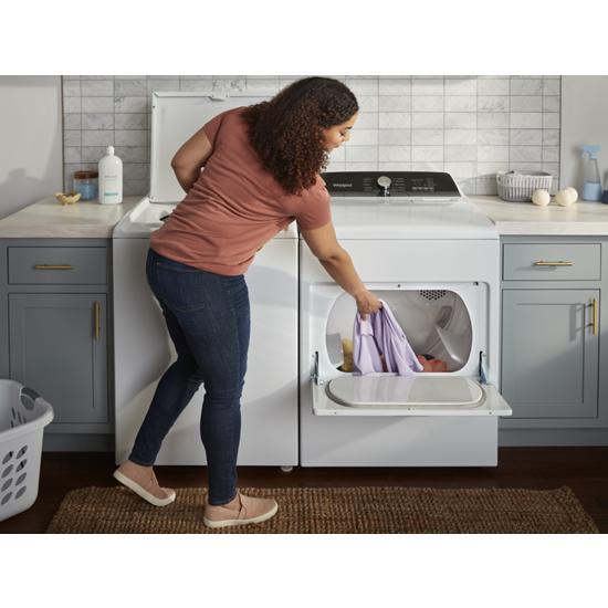 Model: WED5010LW | Whirlpool 7.0 Cu. Ft. Top Load Electric Moisture Sensing Dryer