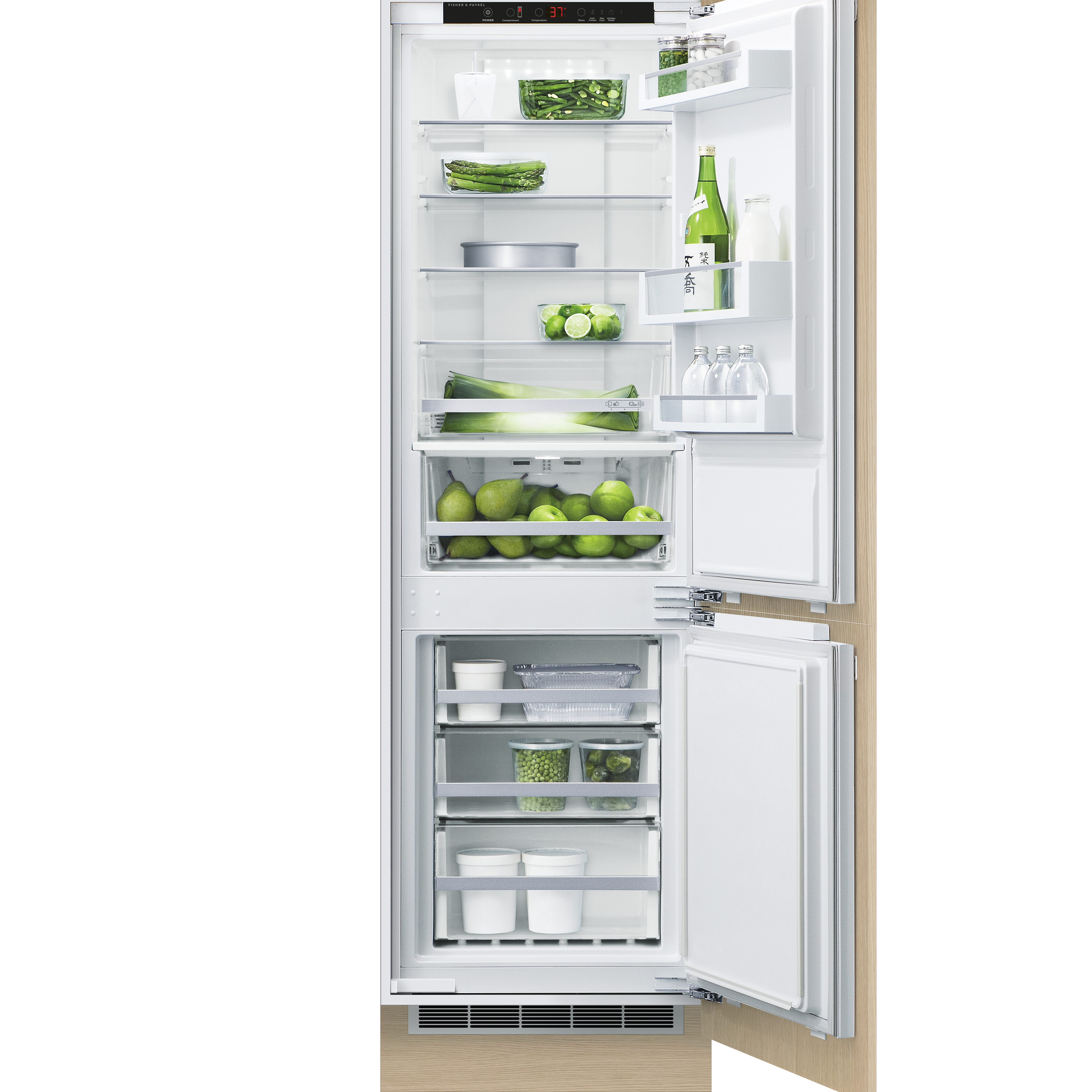 """Fisher and Paykel Integrated Refrigerator Freezer, 24"""""""