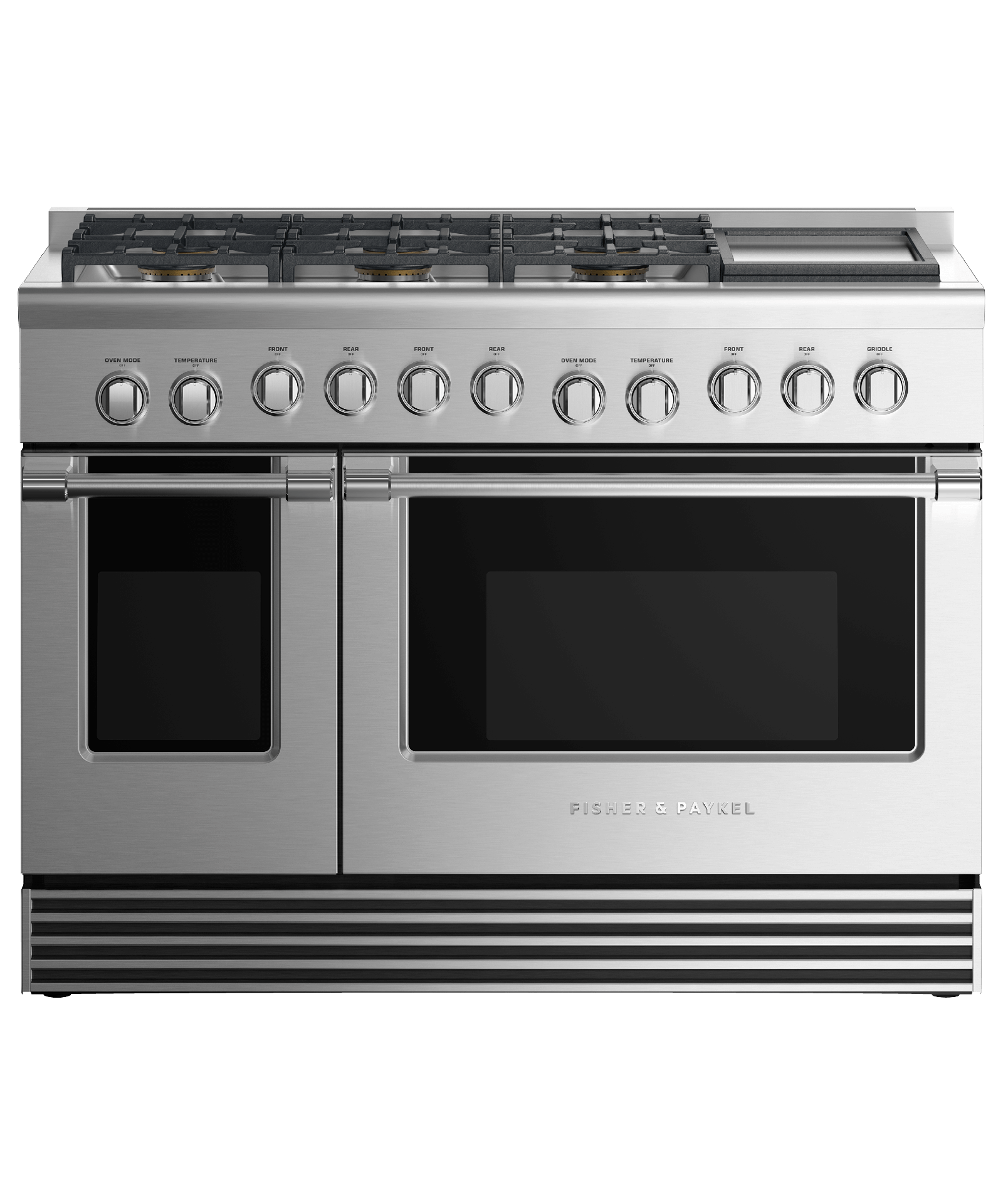 """Model: RDV2-486GD-N_N   Fisher and Paykel Dual Fuel Range, 48"""", 6 Burners with Griddle"""