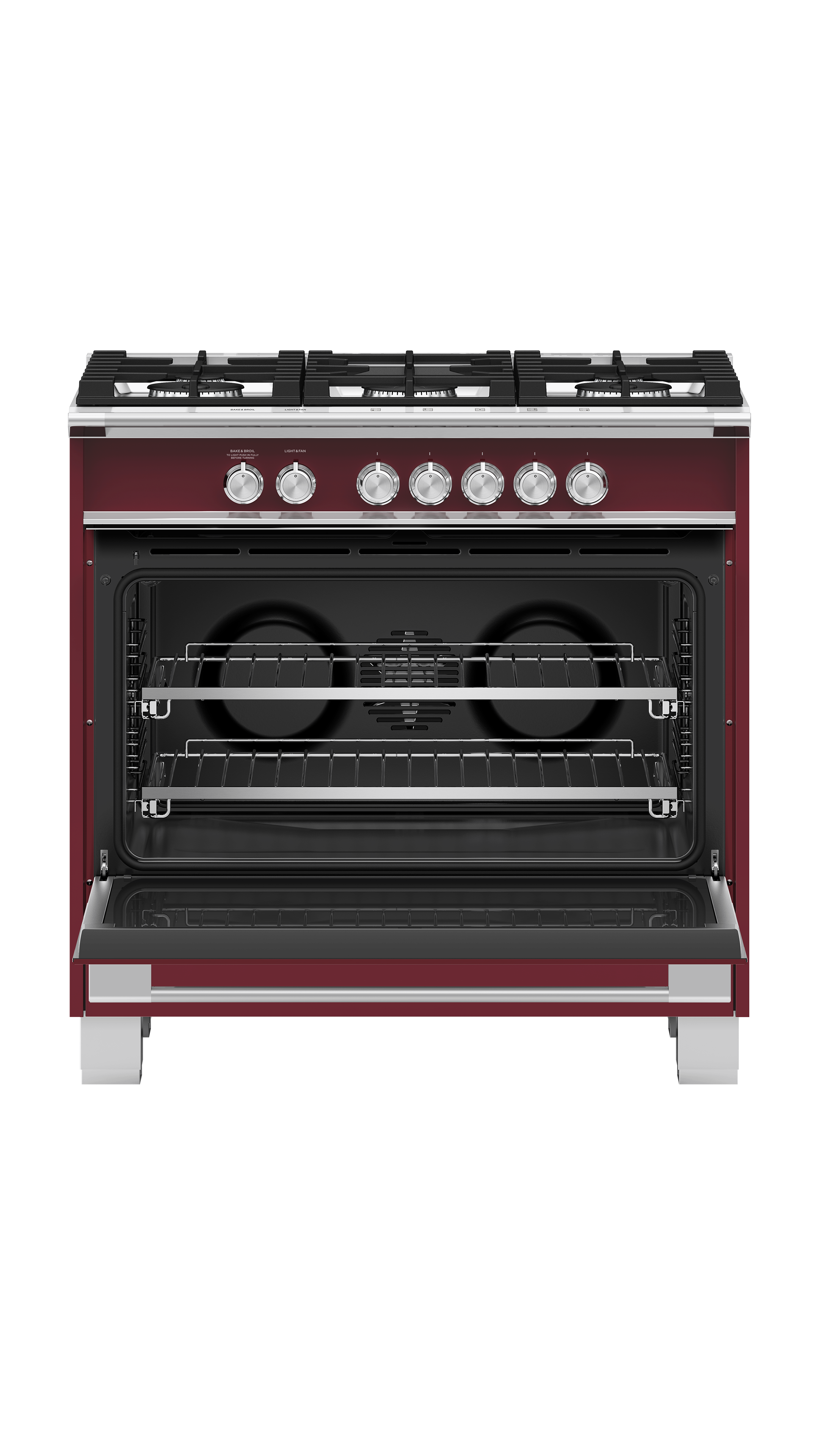 """Fisher and Paykel Gas Range, 36"""", 5 Burners"""