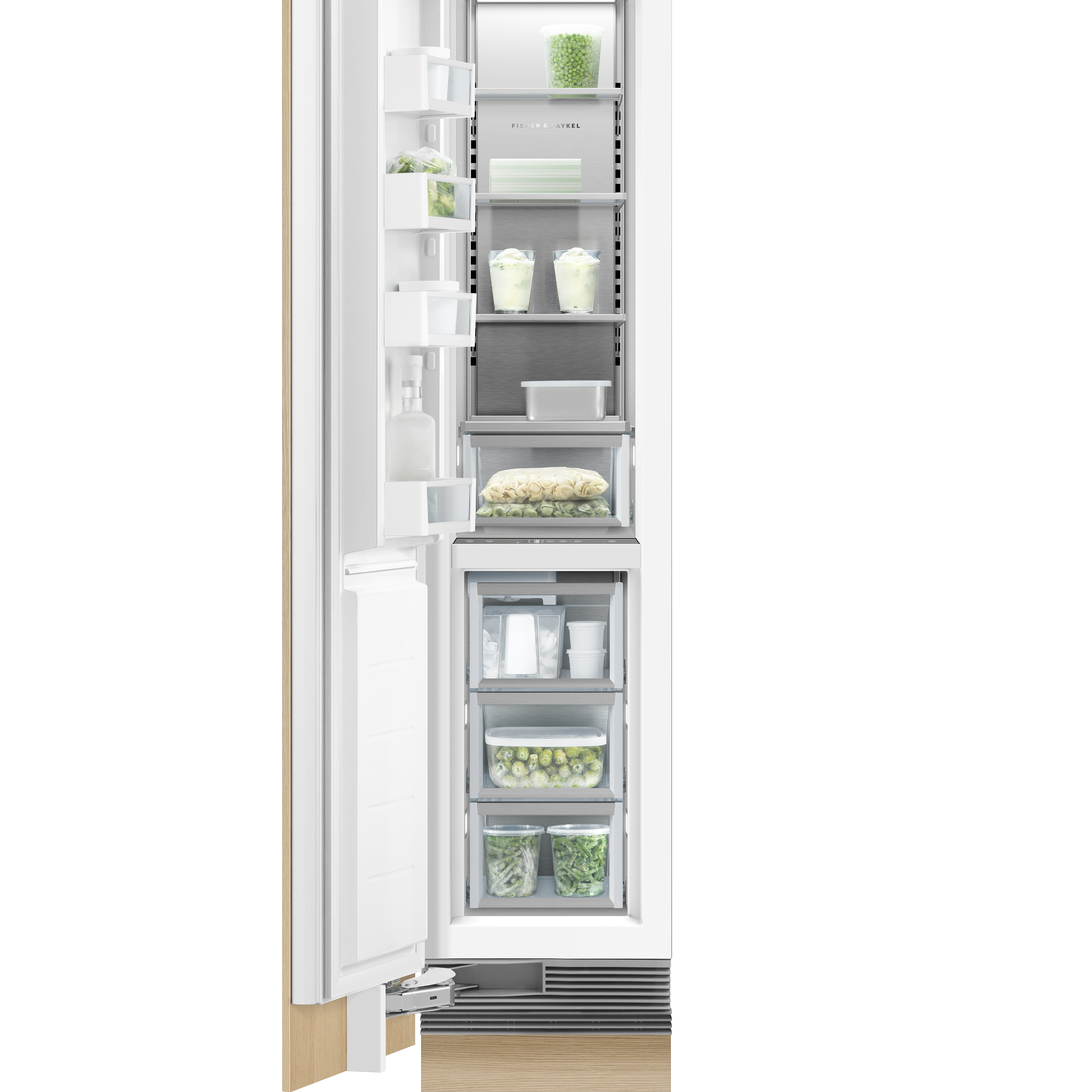 """Fisher and Paykel Integrated Column Freezer, 18"""", Ice"""