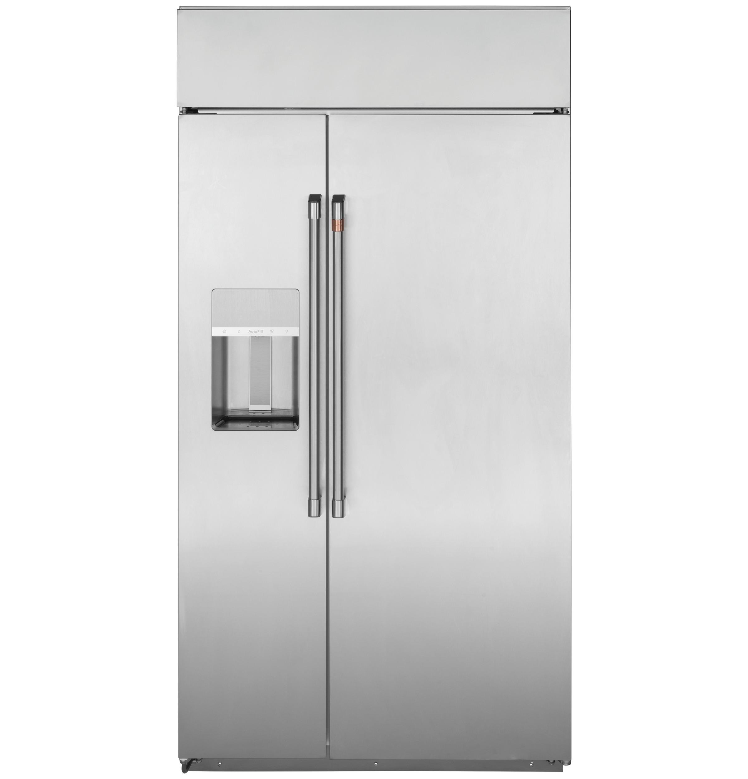 """Cafe Café™ 42"""" Smart Built-In Side-by-Side Refrigerator with Dispenser"""