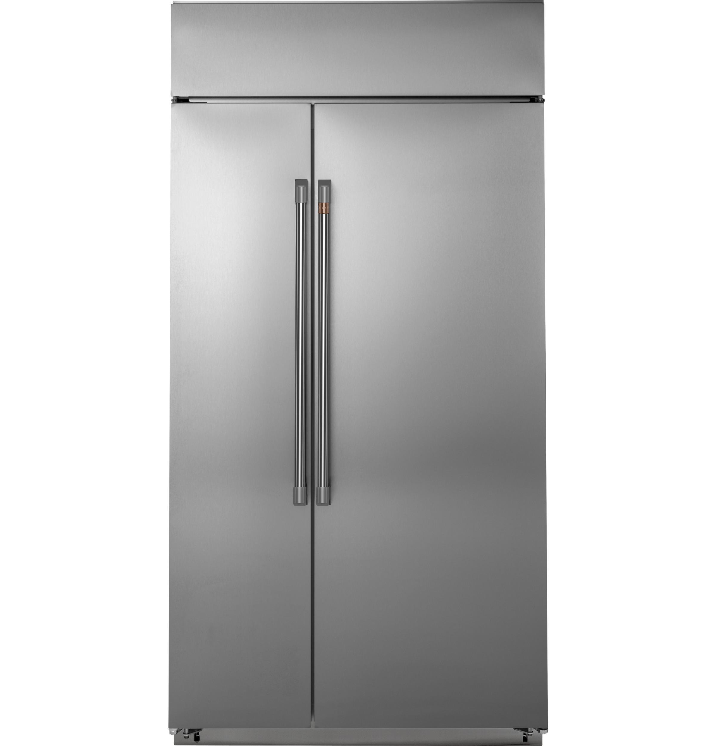"""Cafe Café™ 42"""" Smart Built-In Side-by-Side Refrigerator"""