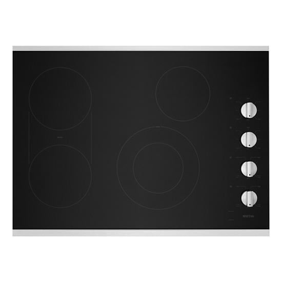 Model: MEC8830HS | Maytag 30-Inch Electric Cooktop with Reversible Grill and Griddle