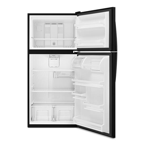 Model: WRT108FFDB | Whirlpool 30-inch Wide Top Freezer Refrigerator - 18 Cu. Ft.