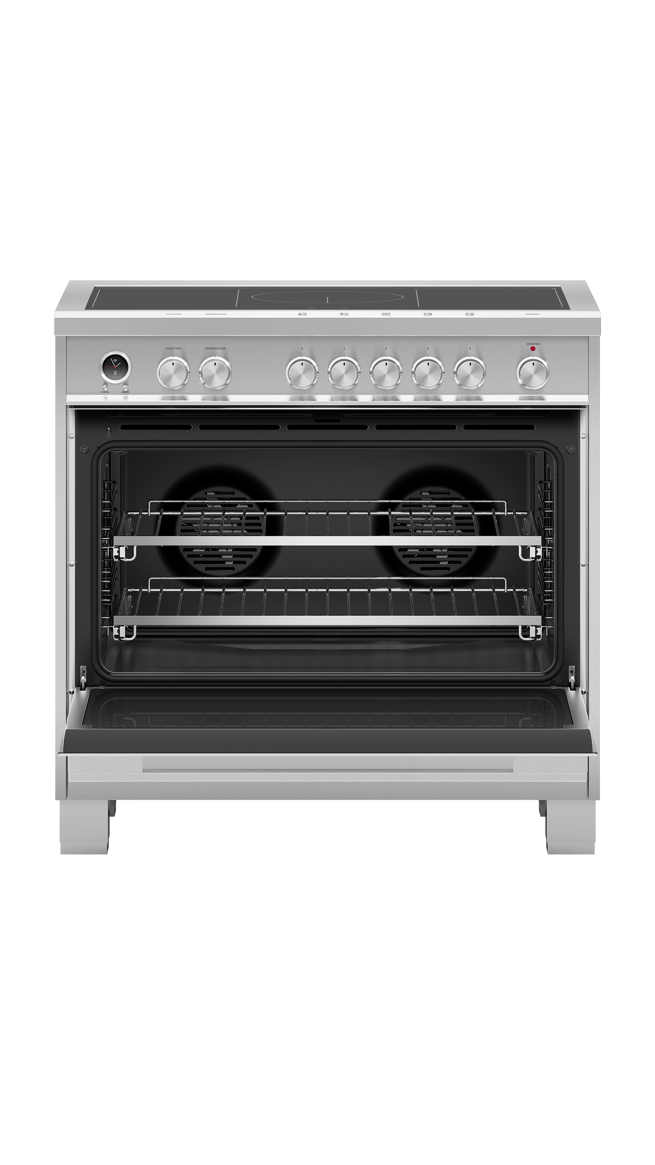 """Fisher and Paykel Induction Range, 36"""", 5 Zones with SmartZone, Self-cleaning"""