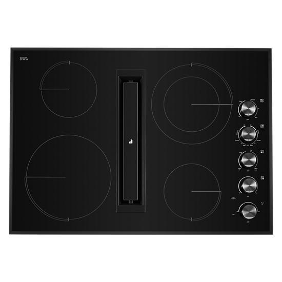 "Jenn-Air Black Floating Glass 30"" JX3™ Electric Downdraft Cooktop"