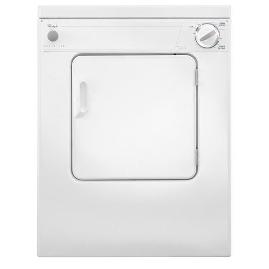 Model: LDR3822PQ   Whirlpool 3.4 cu. ft. Compact Top Load Dryer with Flexible Installation