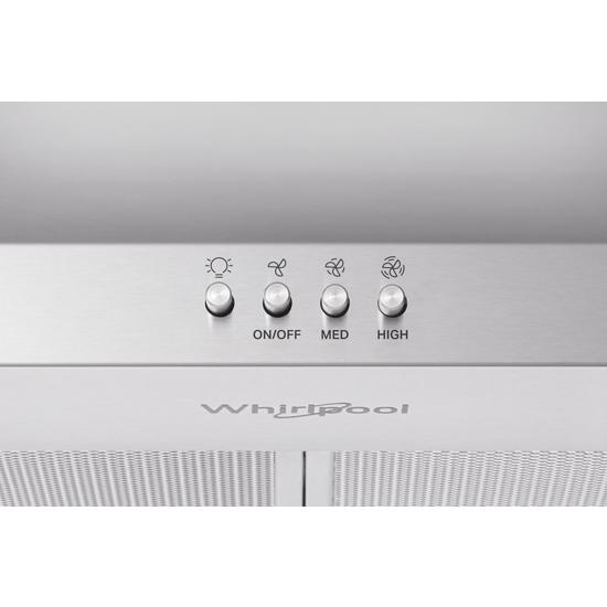 "Model: WVW73UC0LS | Whirlpool ENERGY STAR® Certified 30"" Chimney Wall Mount Range Hood"