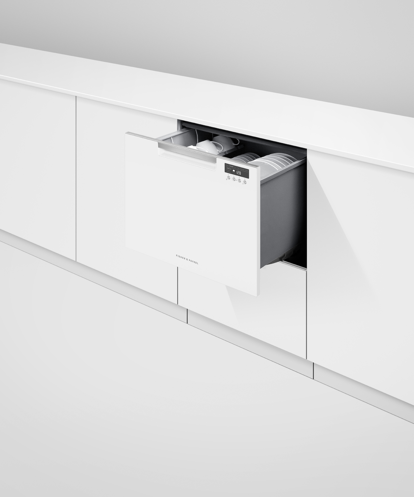 Model: DD24DCTW9 N   Fisher and Paykel Double DishDrawer™ Dishwasher, Tall, Sanitize