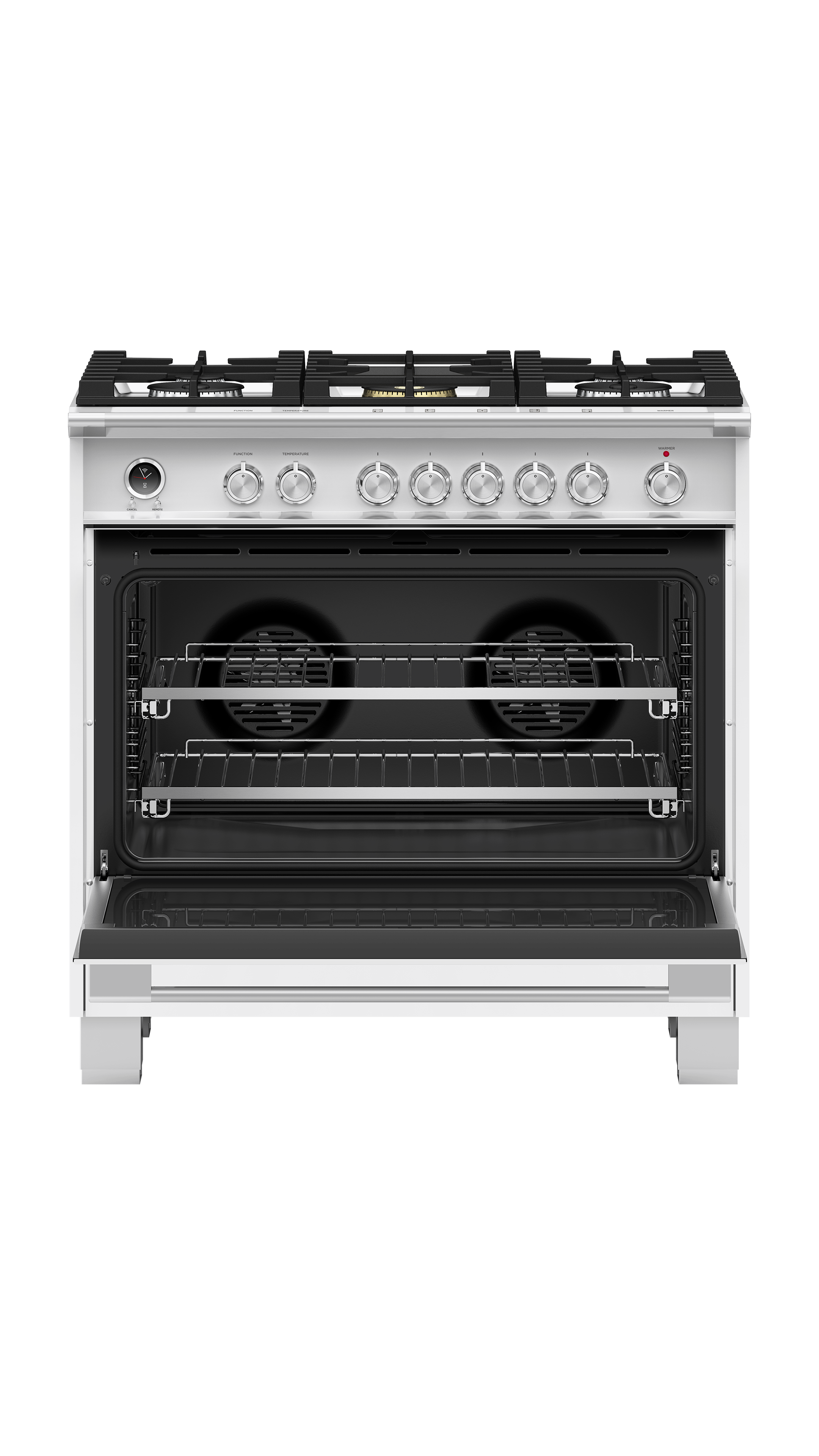 """Fisher and Paykel Dual Fuel Range, 36"""", 5 Burners, Self-cleaning"""